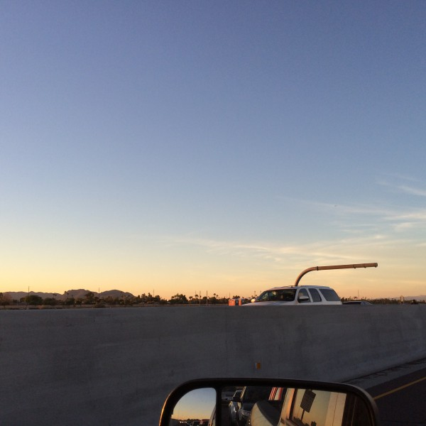 BA289 coming in over the 101 in the East Valley