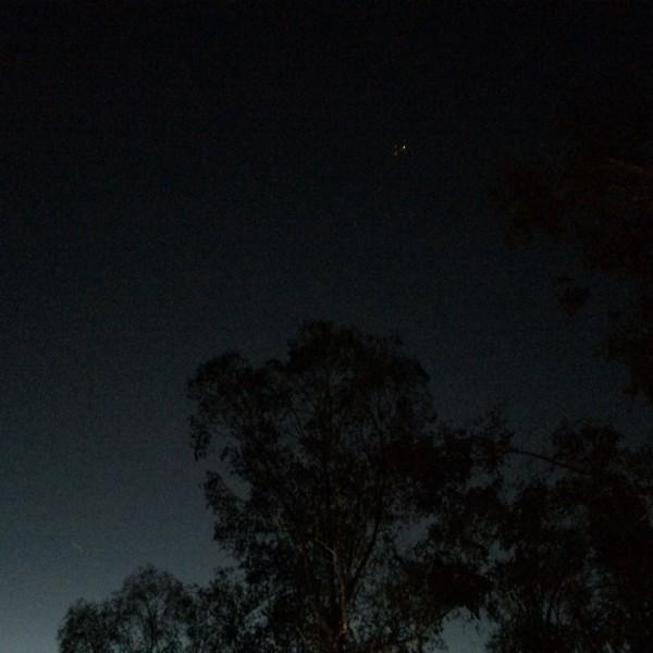 BA289 overhead at dusk November 8th 2014