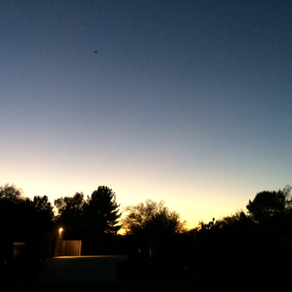 BA289 747 Flying into sunset November 9 2014