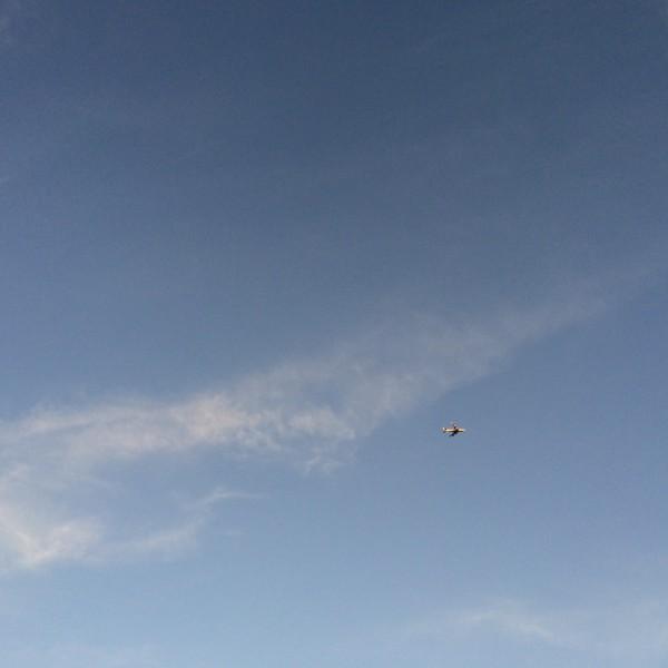 BA 289 turning over Phoenix to land due west.