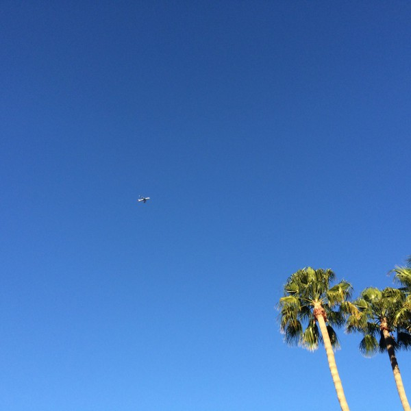 BA289 landing in once again clear skies over Phoenix.