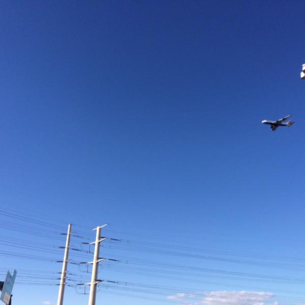 BA289 Jumbo Jet on final approach over Tempe Arizona.
