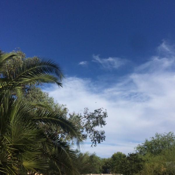 BA289 arriving in beautiful skies over Arizona, July 6, 2015.