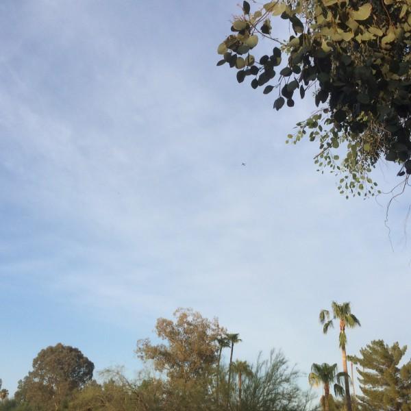BA289 over Paradise Valley, Arizona.